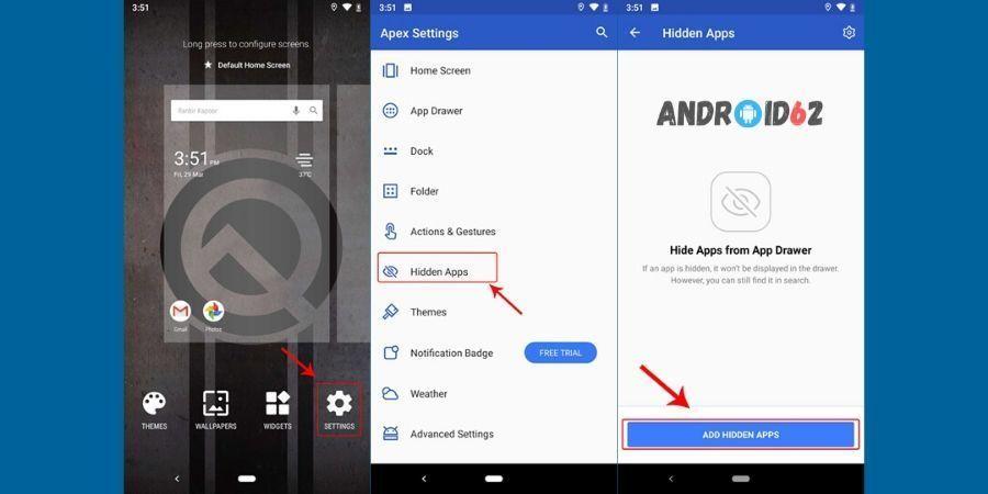 Cara menyembunyikan aplikasi di Android dengan Apex Launcher