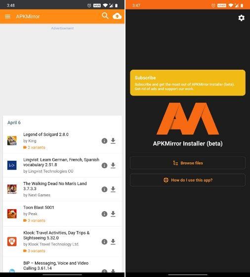 APKMirror - Aplikasi Pengganti Google Play Store